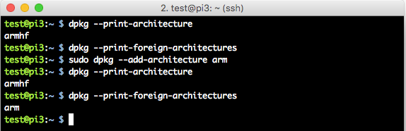 Error: package architecture (arm) does not match system (armhf)